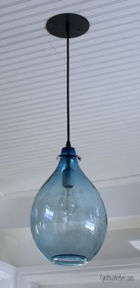 Blue Glass Pendant light part of the Client Diaries ...