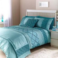 Cairo Duck Egg Teal Double Duvet Quilt bedding Bed in a ...