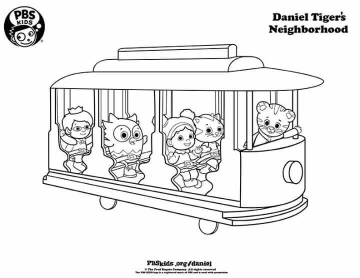 S Coloring Pages Daniel Tiger Trolley Coloring Pages