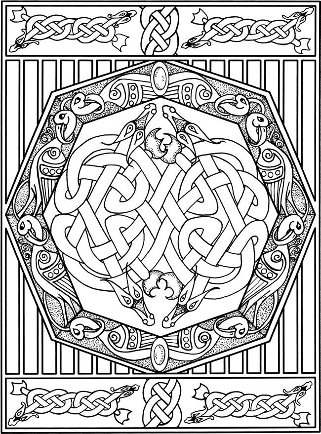 Welcome To Dover Publications Celtic Designs Colouring