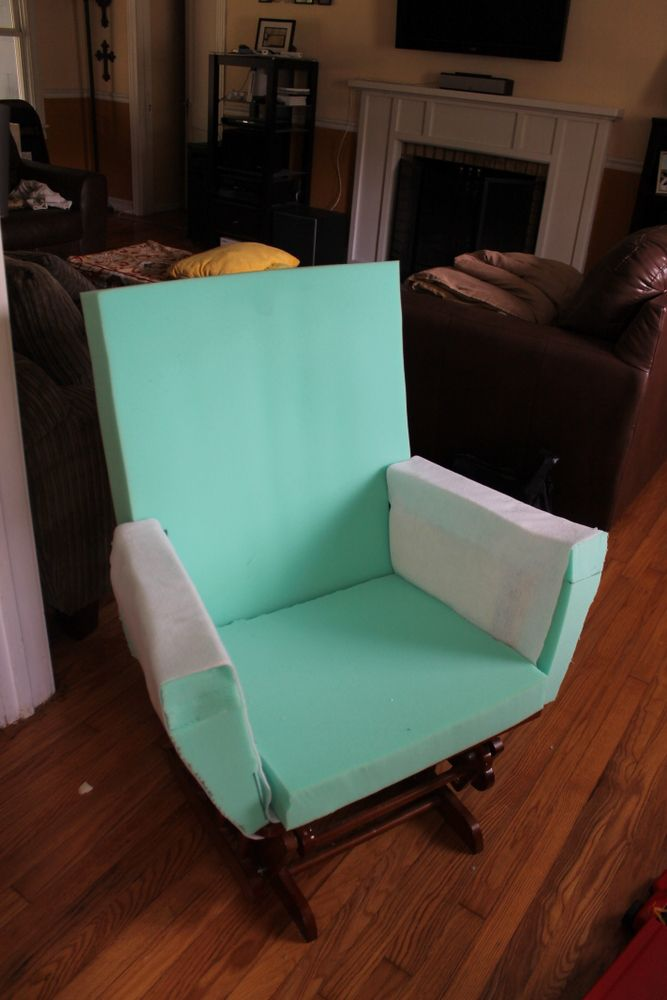 how to recover glider rocking chair cushions party banquet covers 17 best ideas about redo on pinterest | nursery crafts, slipcover and church ...