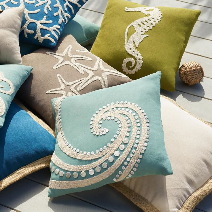 MotherofPearl Beaded Wave Pillow  Pier 1 Imports  Come into my parlor said the spider to