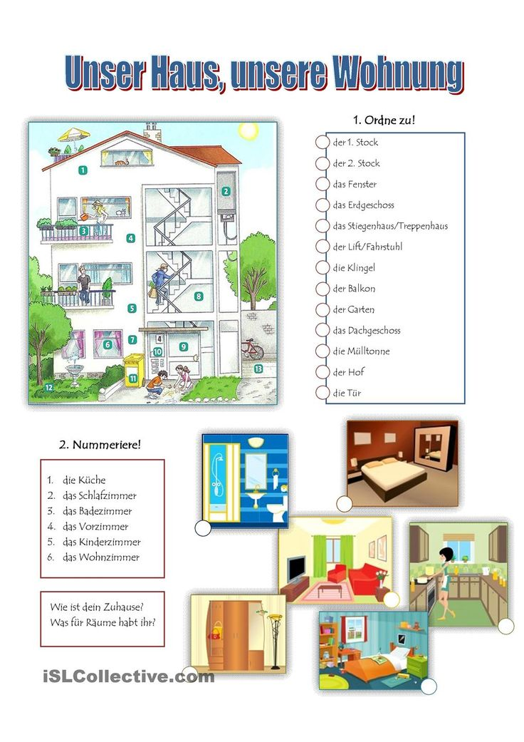 Unser Haus unsere Wohnung  Haus Printables and Student