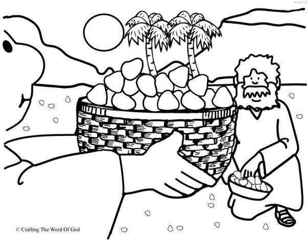 Moses Manna From Heaven Coloring Page Coloring Pages