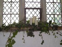 Window sill decor | Church decorations | Pinterest ...