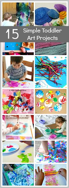 15 Simple Toddler Art Projects- tons of fun and great for keeping busy! @Buggy and Buddy