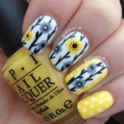 grey yellow #nail #nails #nailart