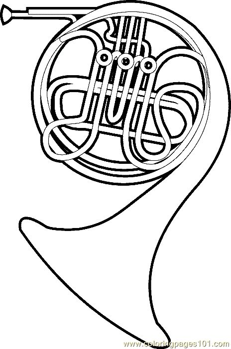 French Horn Coloring Sheets