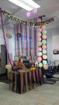 58 best Birthday Cubicle Decorations images on Pinterest