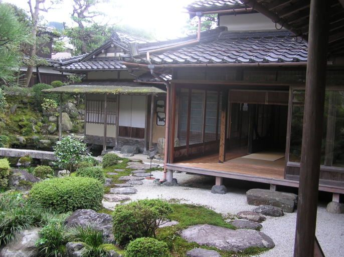 Outside shot of a traditional Japanese home with an Engawa I love the connection between
