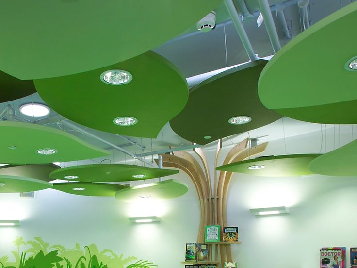 ACOUSTIC CEILING CLOUDS ECOPHON SOLO BY SAINT GOBAIN