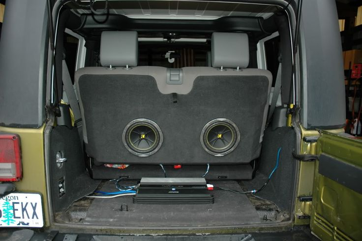2008 Jeep Wrangler Unlimited Wiring Diagram Subwoofer Enclosure Ideas In Your Back Seat Its A Jeep