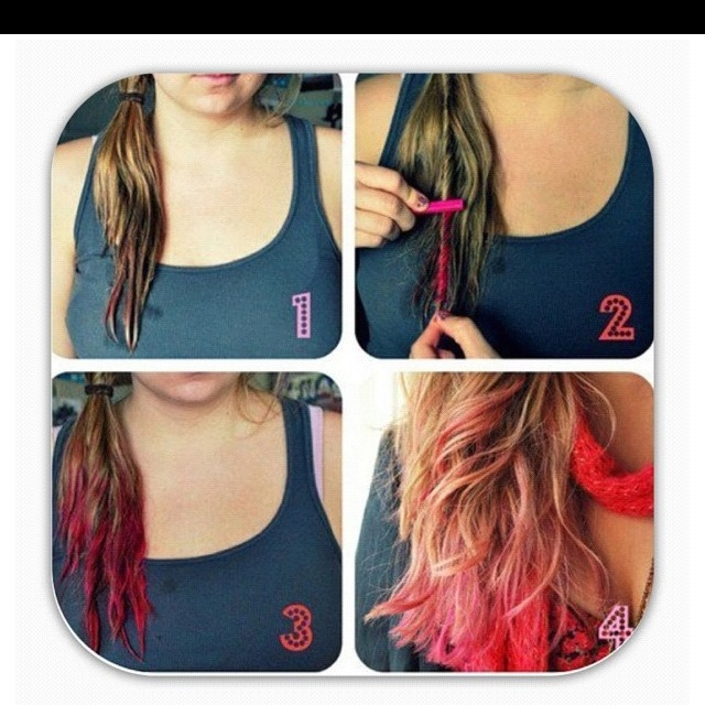 DIY Dip Dye Hair With Chalk Pastels Make Up And Hair