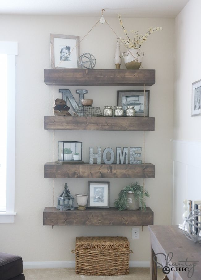 Best 20 Floating shelf decor ideas on Pinterest