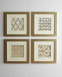 Geometric Prints in Gold Frames! Islands Framing Gallery ...