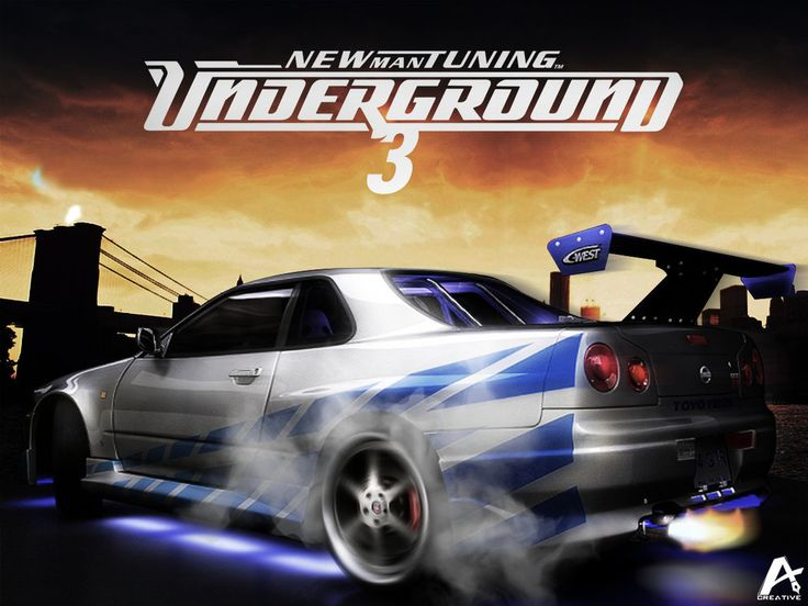 Cars Wallpaper Infront Of Skyline Need For Speed Underground 3 Games Wallpaper Games