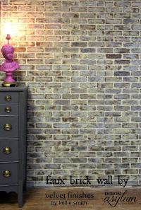 25+ best ideas about Faux brick walls on Pinterest | Brick ...