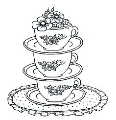 1000+ images about Embroidery Cups/Teapots on Pinterest
