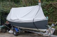 A custom tent on this Irish Ilur | Boom Tents and Dinghy ...