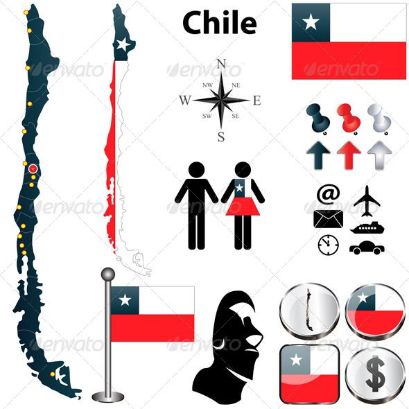Map of Chile More Icon package Chile and Buy maps ideas
