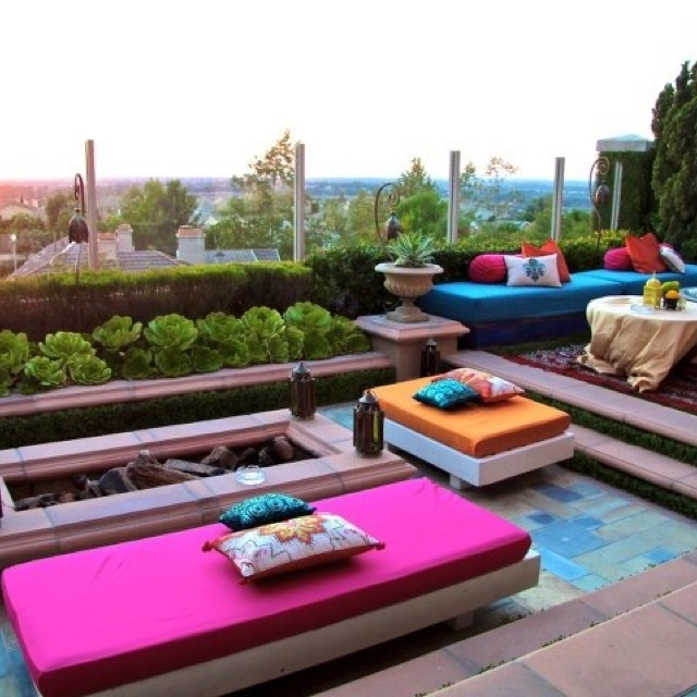 Moroccan theme 40th birthday. Transformed a backyard into