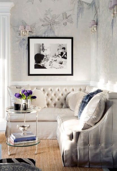pink glam living room decor Trend Spotting Pretty Pastel Interiors in Design, Home