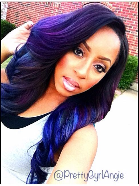 17 Best Images About A SPLASH OF COLOR AFRO HAIR On Pinterest