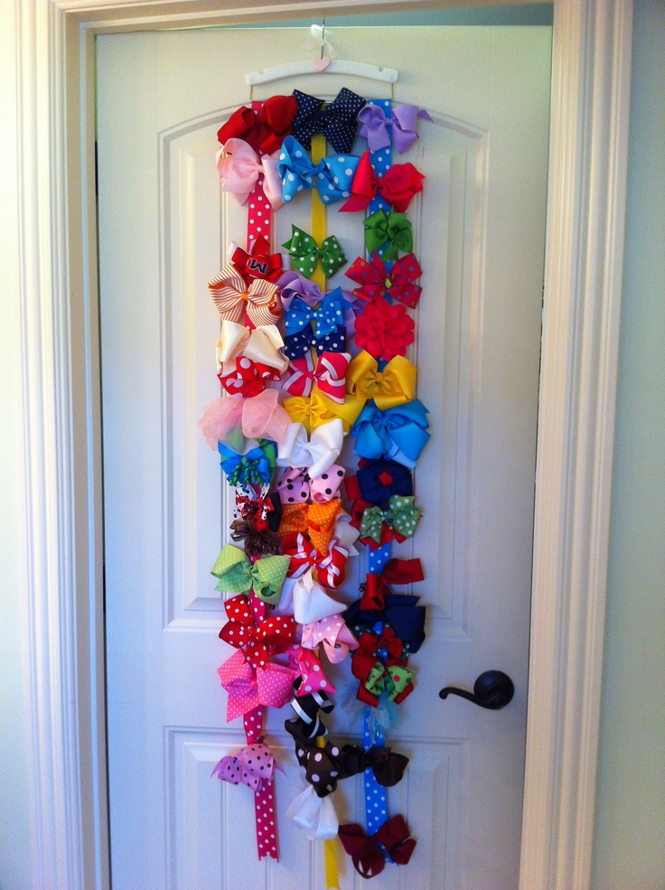 25+ best ideas about Hair bow storage on Pinterest