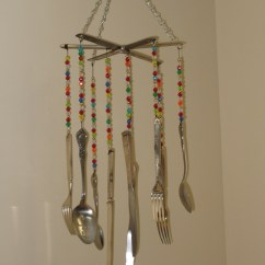 Kitchen Chandelier Ideas Glass Table Set Upcycled Silverware Wind Chime | Project Upcycle ...