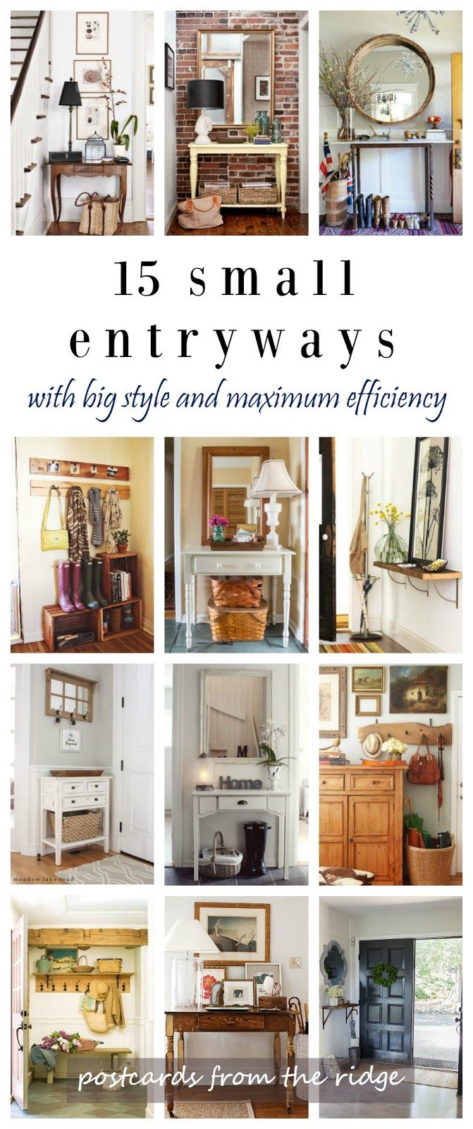 25+ best ideas about Small entryway organization on