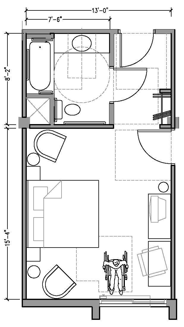 Hotel Room Floor Plan Dimensions Plan1aaccessiblejpg