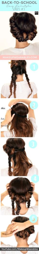 Braided Wrapped Headband Tuck Updo | Holiday Hairstyles: