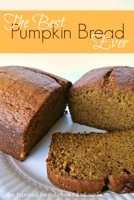 the best pumpkin bread ever substitute half of the oil for applesauce
