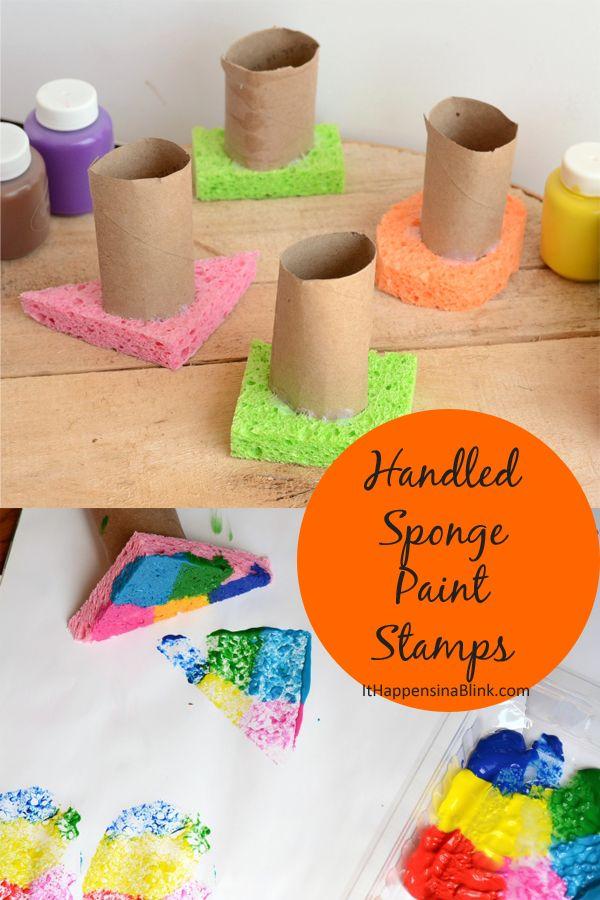 sponge paint stamps sponsored prevent messy hands when sponge