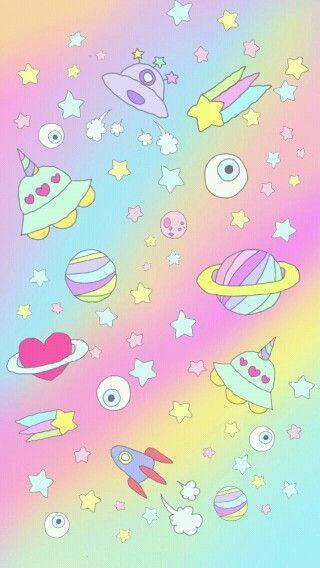 Super Cute Emoji Wallpapers Cosmic Kawaii Stickers Look Pinterest Kawaii