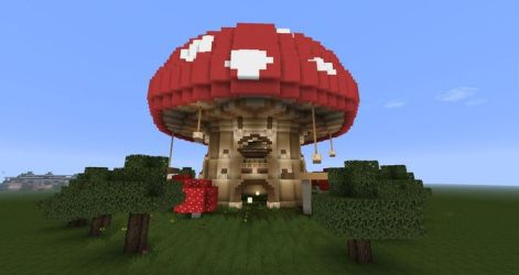 minecraft mushroom mushrooms castle buildings houses kingdom hd medieval amazing planning someday making mine project without designs mansions imgur