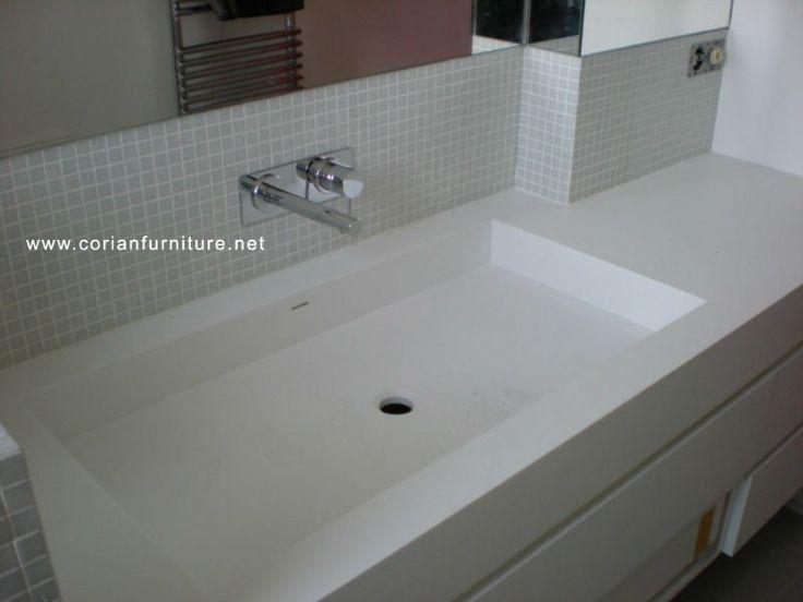 Corian Integrated Bathroom Sinks  Corian acrylic solid