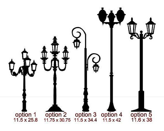 Christmas Street Light Lamp Post Silhouette Images
