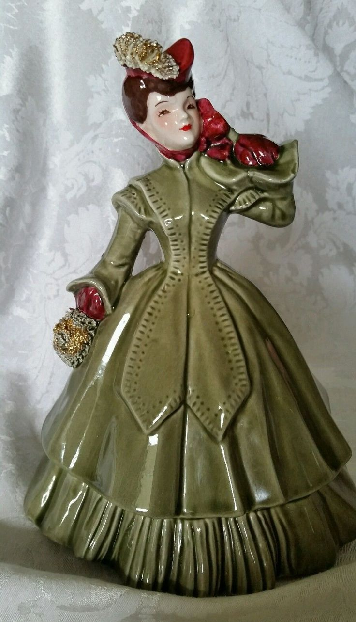 Vintage Florence Ceramics Figurine Matilda Dark Hair in