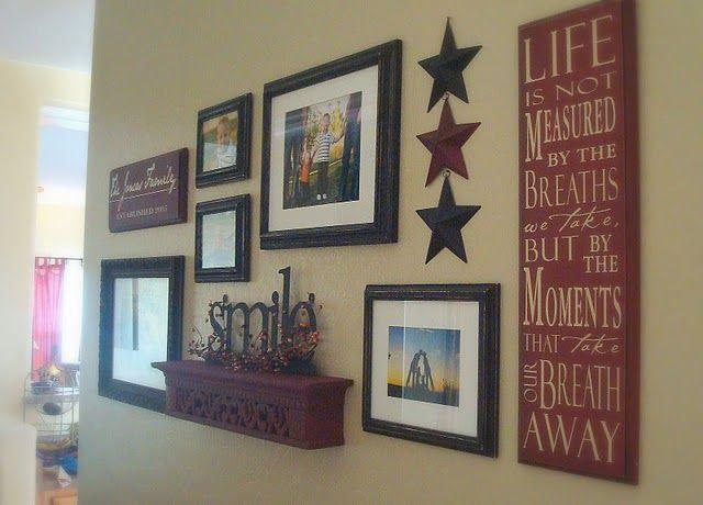 25 Best Ideas About Wall Decor Arrangements On Pinterest Frame