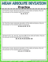 All Worksheets  Mean Absolute Deviation Worksheets ...