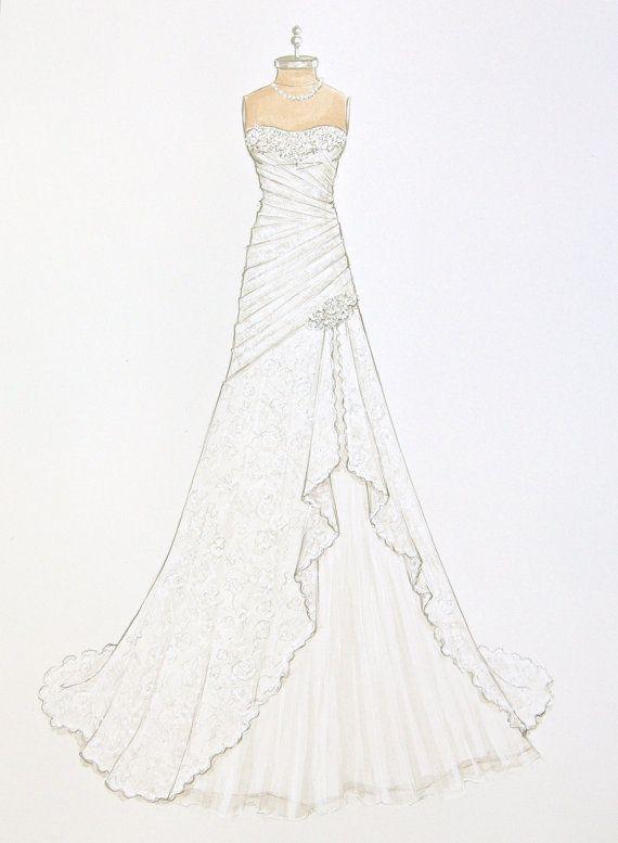 Die 25 besten Ideen zu Hochzeitskleid zeichnen auf Pinterest  Modeskizze zeichnen Topmodels