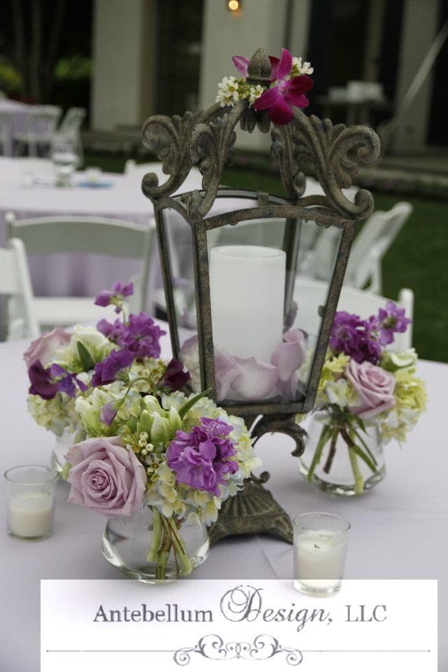 Purple Wedding Flowers Around A Romantic And Rustic