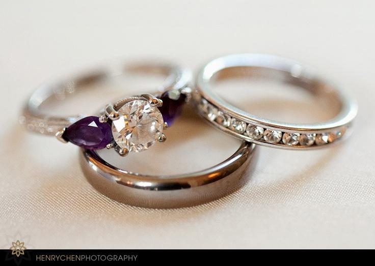 25+ best ideas about Purple wedding rings on Pinterest