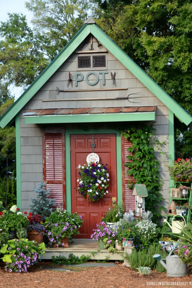 17 Best ideas about Shed Landscaping on Pinterest  Shed