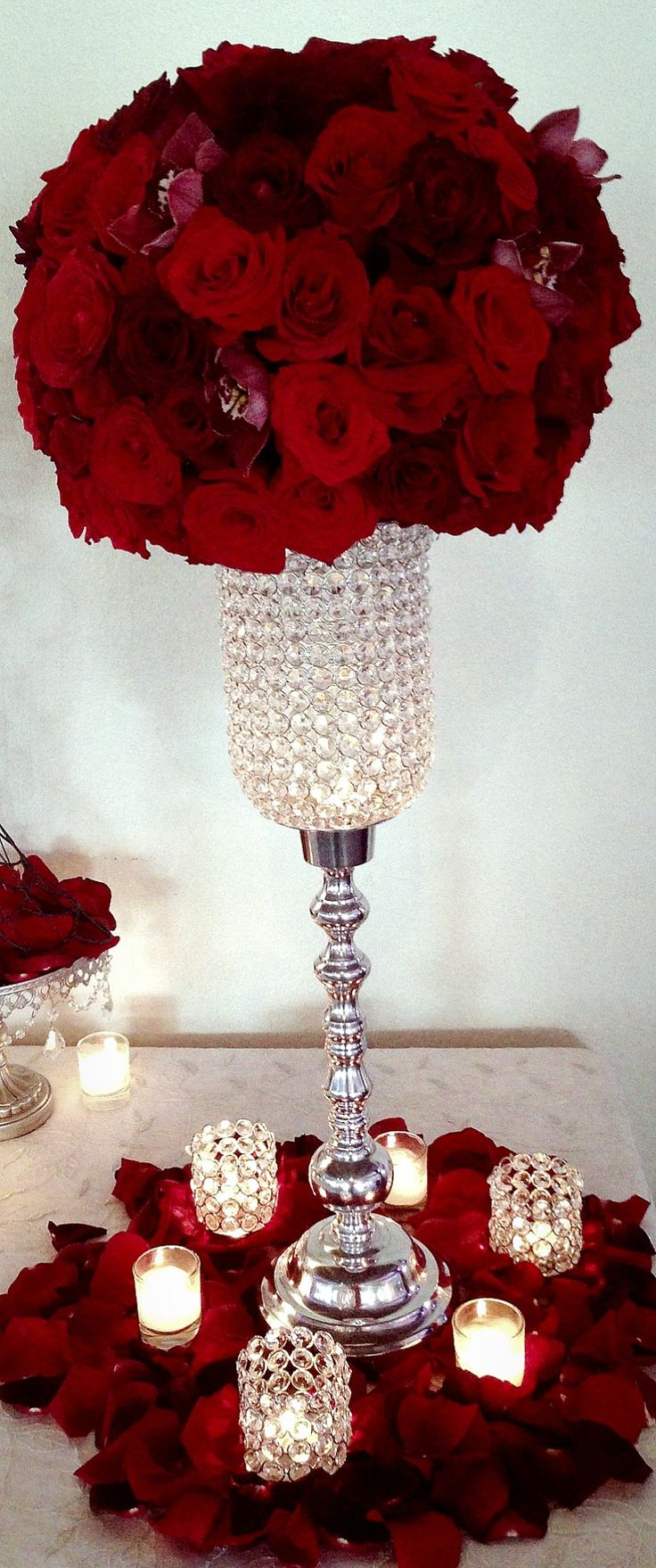 25 Best Ideas about Red Centerpieces on Pinterest  Red wedding centerpieces Rose centerpieces