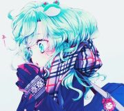 anime girl with blue hair vocaloid