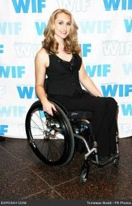 chairs for handicapped wide office teal sherer. paraplegic, actress and star of