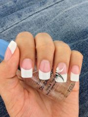 white tip acrylic nails #beautiful