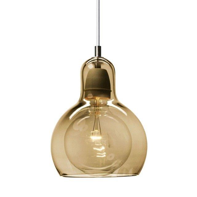 Bulb Mega Suspension Verre Dor Fil Blanc Cm Suspension Tradition Design Par Sofie Refer
